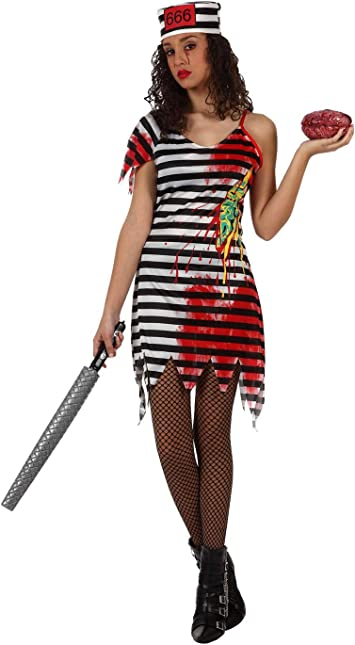 Atosa-12252 Atosa-12252-Disfraz Presa Zombie para mujer adulto ...