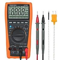 Proster VC99 6000 Digital-Multimeter Mit groß LCD Multimeter Voltmeter Amperemeter Ohmmeter für Spannug Strom Widerstand AC DC Kapazität Frequenz Celsius Temperatur