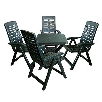 Amazon De 5tlg Gartenmobel Set Gartengarnitur Gartentisch