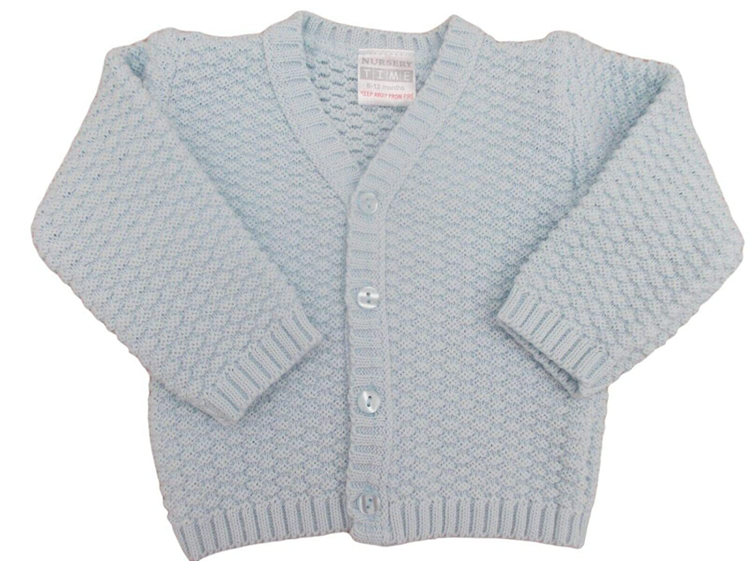 Nursery Time BNWT Baby Girls Blue Thick Knitted Cardigan