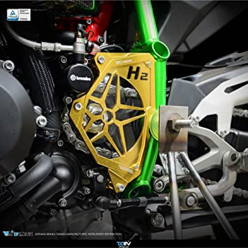 dimotiv tapa piñón delantero para Kawasaki H2/H2r 2015 (oro): Amazon.es: Coche y moto