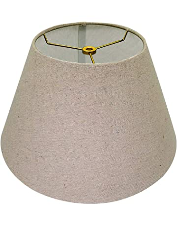 66b6a8f73c05 Medium Lamp Shade,Alucset Brown Barrel Fabric Lampshade for Table Lamp and  Floor Light,