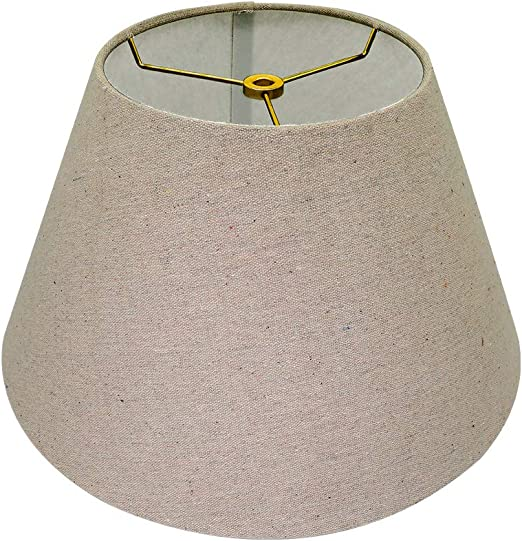 White White Lamp Shade,Alucset Barrel Fabric Small Lampshade for Table Lamp and Floor Light,6x10x7.5,Natural Linen Hand Crafted,Spider