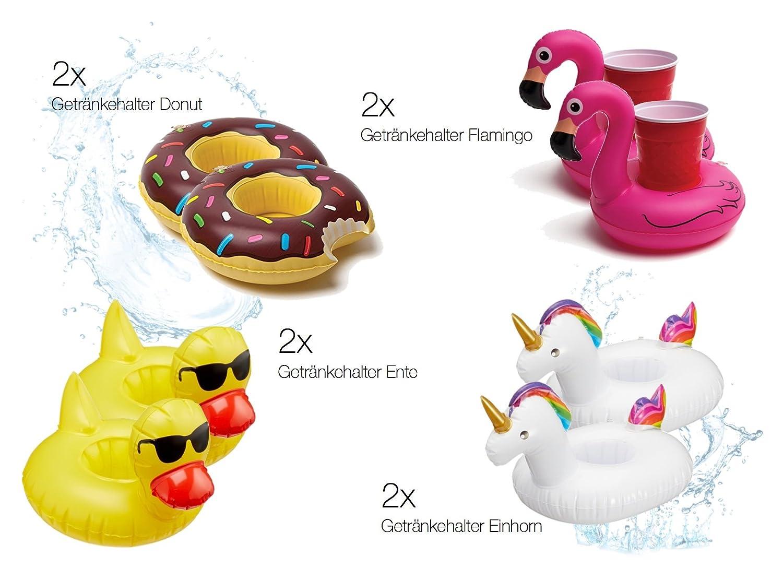 anillo donut Juguetes de playa inflable piscina flotante inflable gigante rosquilla mordida mordido XXL Natación Anillo Chocolate - Diseño para la piscina, ...