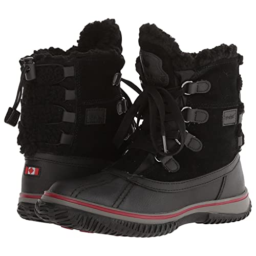 4e74ce989 Amazon.com: Pajar Canada Iceland Womens Waterproof Boot - Black - 37 ...