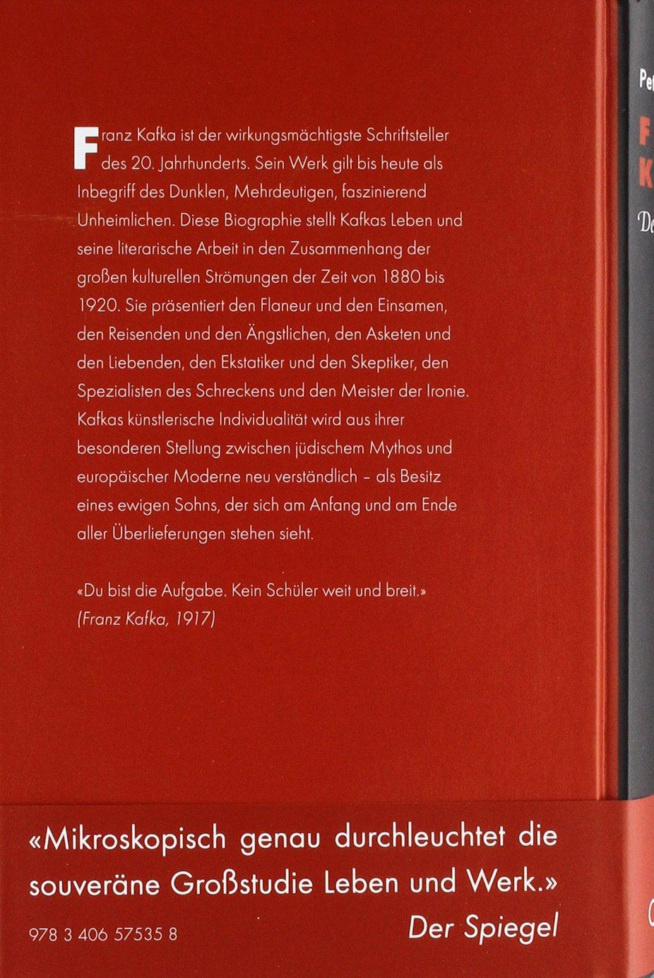 Franz Kafka Der Ewige Sohn Amazon Peter André Alt Bücher