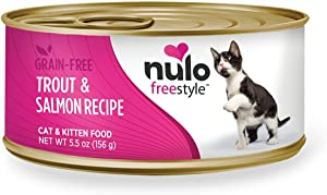 Nulo Adult & Kitten Canned Wet Cat Food (Trout & Salmon Recipe, 5.5 Oz, Case Of 24)