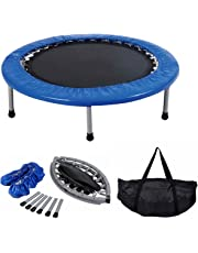 """COSTWAY Mini Trampoline Set, 38"""" Foldable Fitness Exercise Bouncer Sports W/Carry Bag"""