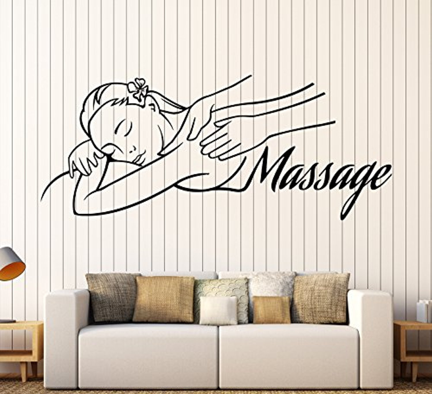 Art of Decals Vinyl Wall Decal Massage Room Spa Woman Relax Beauty Stickers Large Decor 951