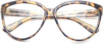 c5c5344d5f Emblem Eyewear Womens Oversize Retro Nerd Clear Lens Fashion Cat Eye Geek  Glasses