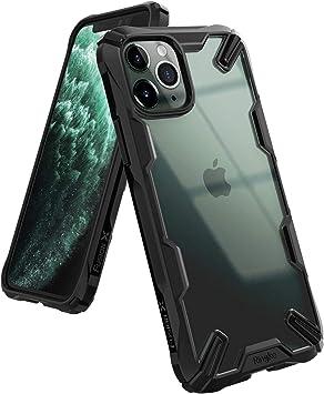 Coque iPhone 11 Pro Max Antichoc Protection Robuste Armor Silicone Dur PC avec Support pour iPhone 11 Pro Max Noir