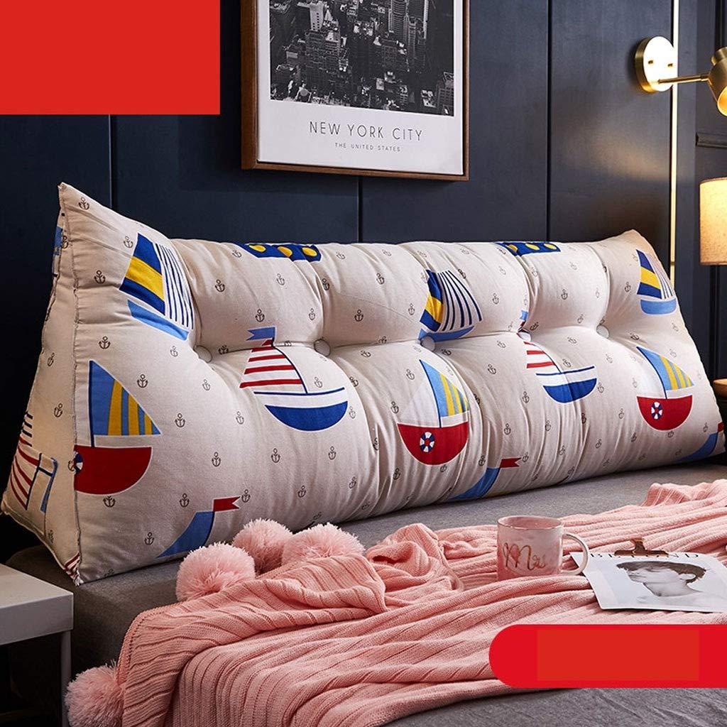 ベッドサイドクッション、ロングピローソフトバッグトライアングルダブルバックレストウエストピロー畳ベッド (色 : E, サイズ さいず : 150CM) B07QMBK46J E 150CM