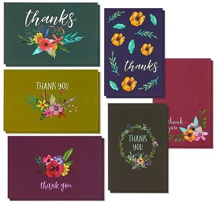 Amazon Com Thank You Cards 48 Count Thank You Notes Bulk Thank