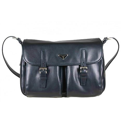 a01a609660b14a Prada Navy Blue Messenger Bag: Amazon.in: Bags, Wallets & Luggage