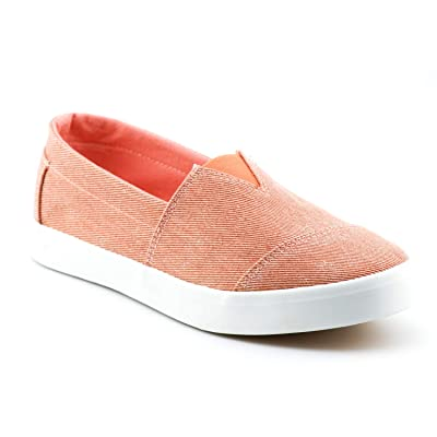 Women's Fashion Classic Sneakers Slip On Loafers Casual Sport Athletic Shoes Flats LE02 Blush 5.5 | Loafers & Slip-Ons