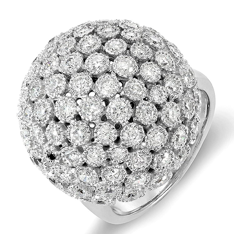 3.25 Carat (ctw) 14k White Gold Round Diamond Ladies Cocktail Ring