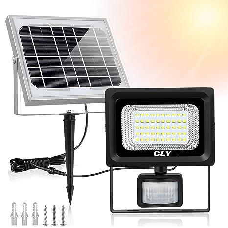 LTE Foco LED 50W con Sensor de Movimiento,lámpara LED de Impermeable IP65, Luz Blanca,Proyección de 4000 Lúmenes,6000K,Luz Blanca para ...