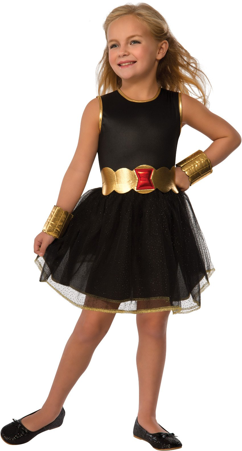 - 71YQav8EntL - Rubie's Costume Marvel Universe Child Black Widow Tutu Dress Costume