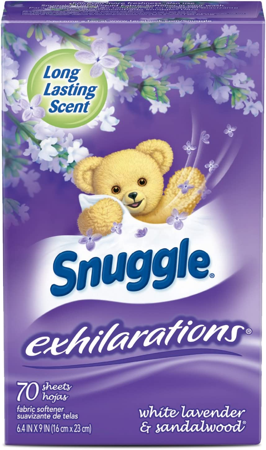 Snuggle Exhilarations Fabric Softener Dryer Sheets, Lavender & Vanilla Orchid