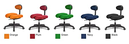 HARA CHAIR HARA D HR2D Office Chair Twin Based Pressure Relief of the Intervertebral Discs and Improved Buttock Circulation Color Red Mesh