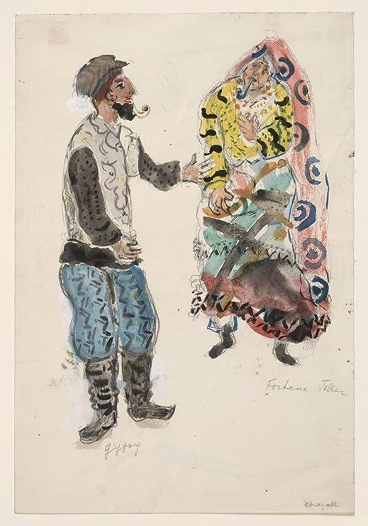 El Museo de salida – Marc Chagall – un gato y una gitana, disfraz ...