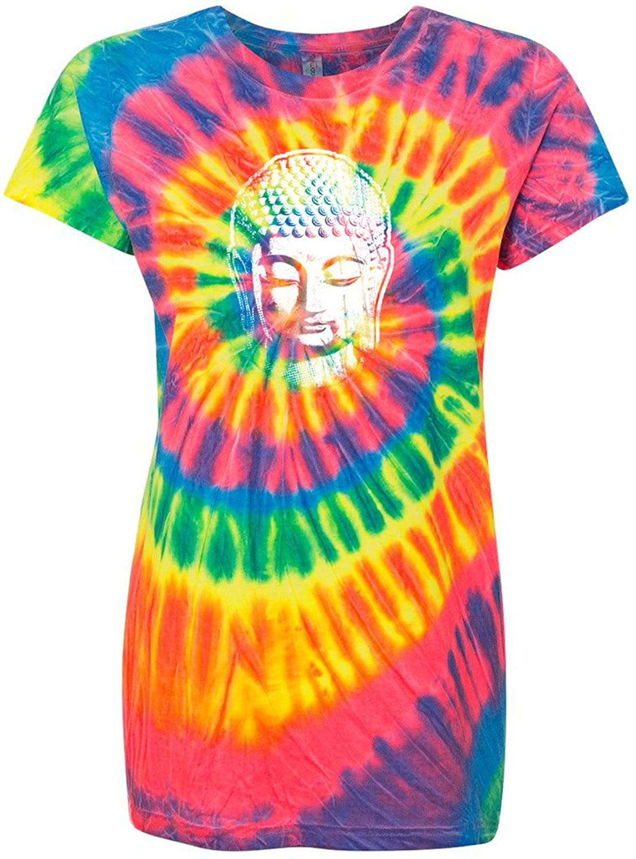 Yoga Clothing For You Ladies Buddha Profile Tie Dye Tee Shirt