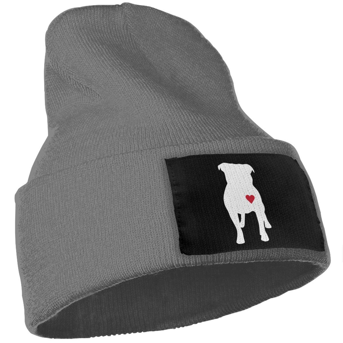 COLLJL-8 Men /& Women Pitbull Heart Outdoor Stretch Knit Beanies Hat Soft Winter Knit Caps