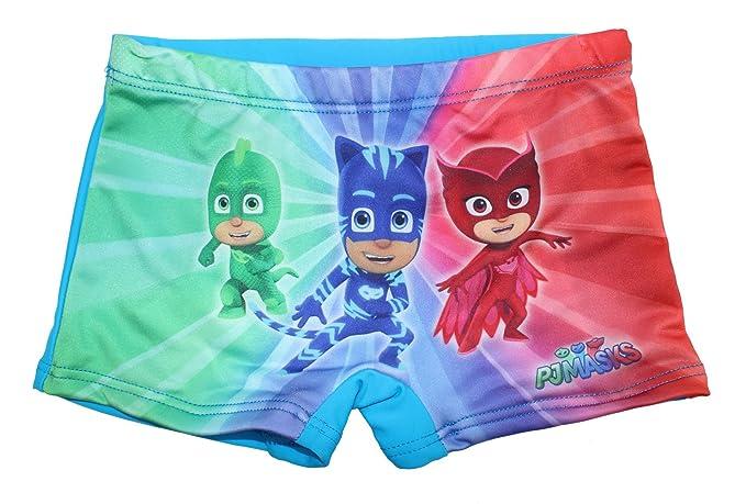 Super Wings PJ Masks - Bañador - para niño Azul Claro 92 cm