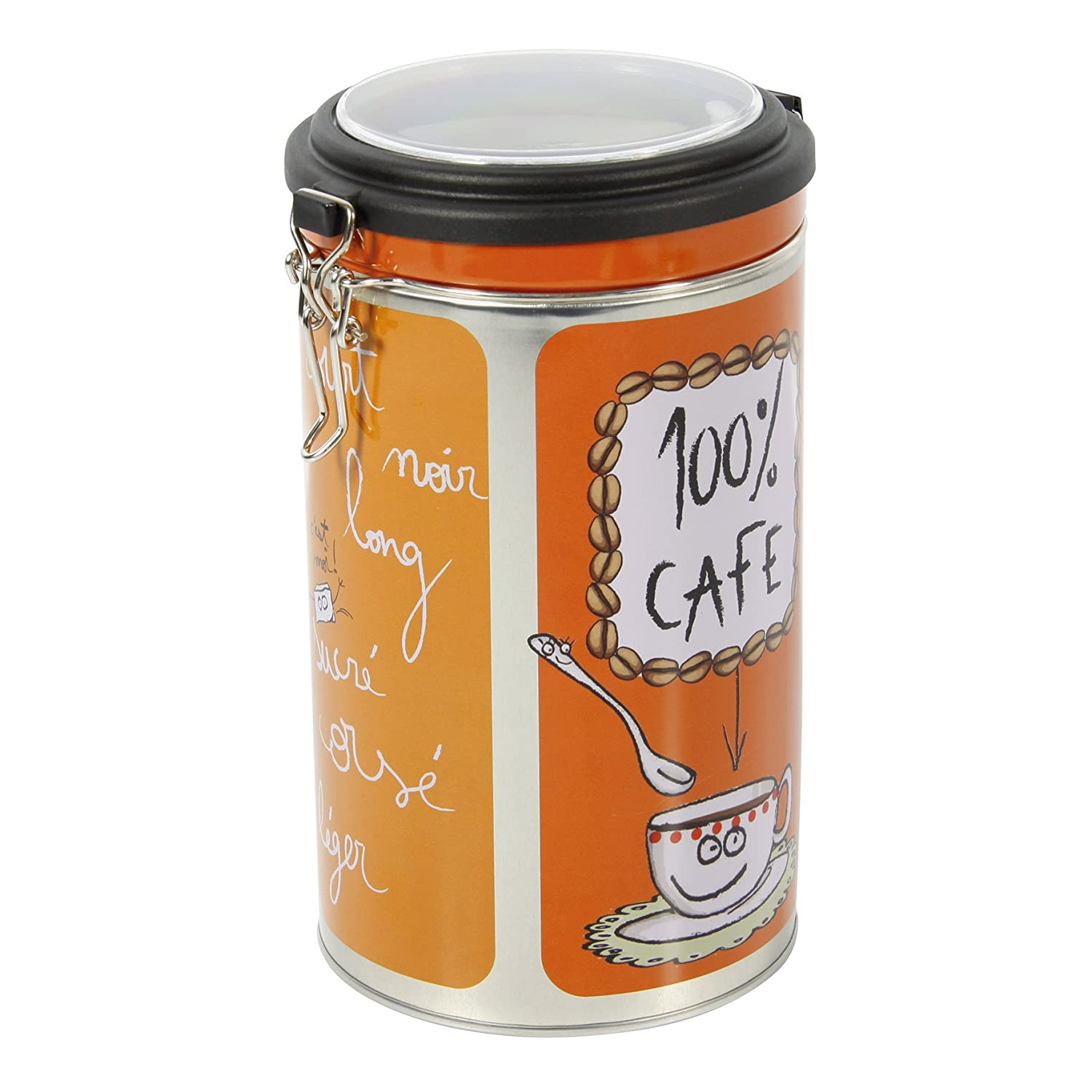 FAVECO 509246 – Management Container Round, Metal, Reason Coffee Colour, 13.5 x 19.2 x 11.5 cm, Multi-Coloured Gers Equipement