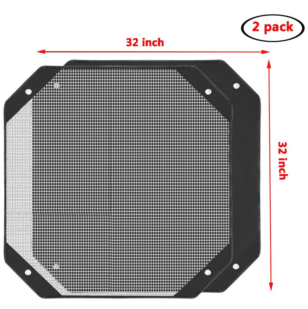 All Season Sturdy Mesh Design Air Conditioner Cover Keep Out Leaves White, 28x28 Air Conditioner Covers for Outside Units A//C Unit Protector YELAIYEHAO Air Conditioner Top Cover