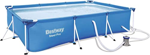 Bestway Steel Pro 9.8ft x 6.6ft x 26in Rectangular Above Ground Swimming Pool Set