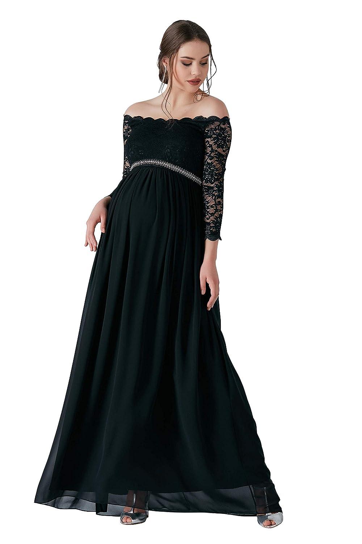 Diamond Umstandskleid mit Spitze und Strasssteinen Bustierkleid Schwangerschaft Schwangerschaftskleid Abendkleid Cocktailkleid Hochzeit Standesamt M.M.C