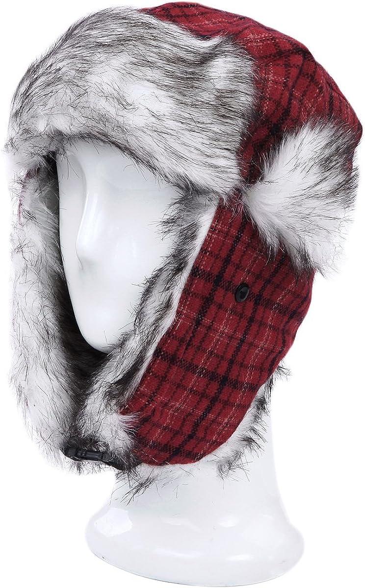 Warm Winter Plaid Faux Fur...