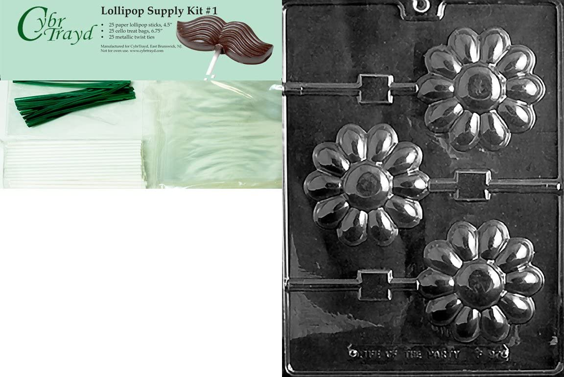 Large Daisy Lollipop Chocolate Mold F097