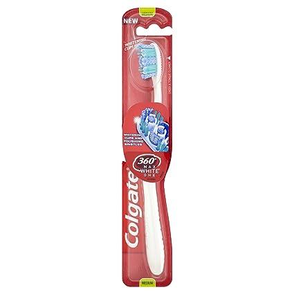 360 cepillo de dientes Colgate Max Blanco Uno Tamaño Mediano