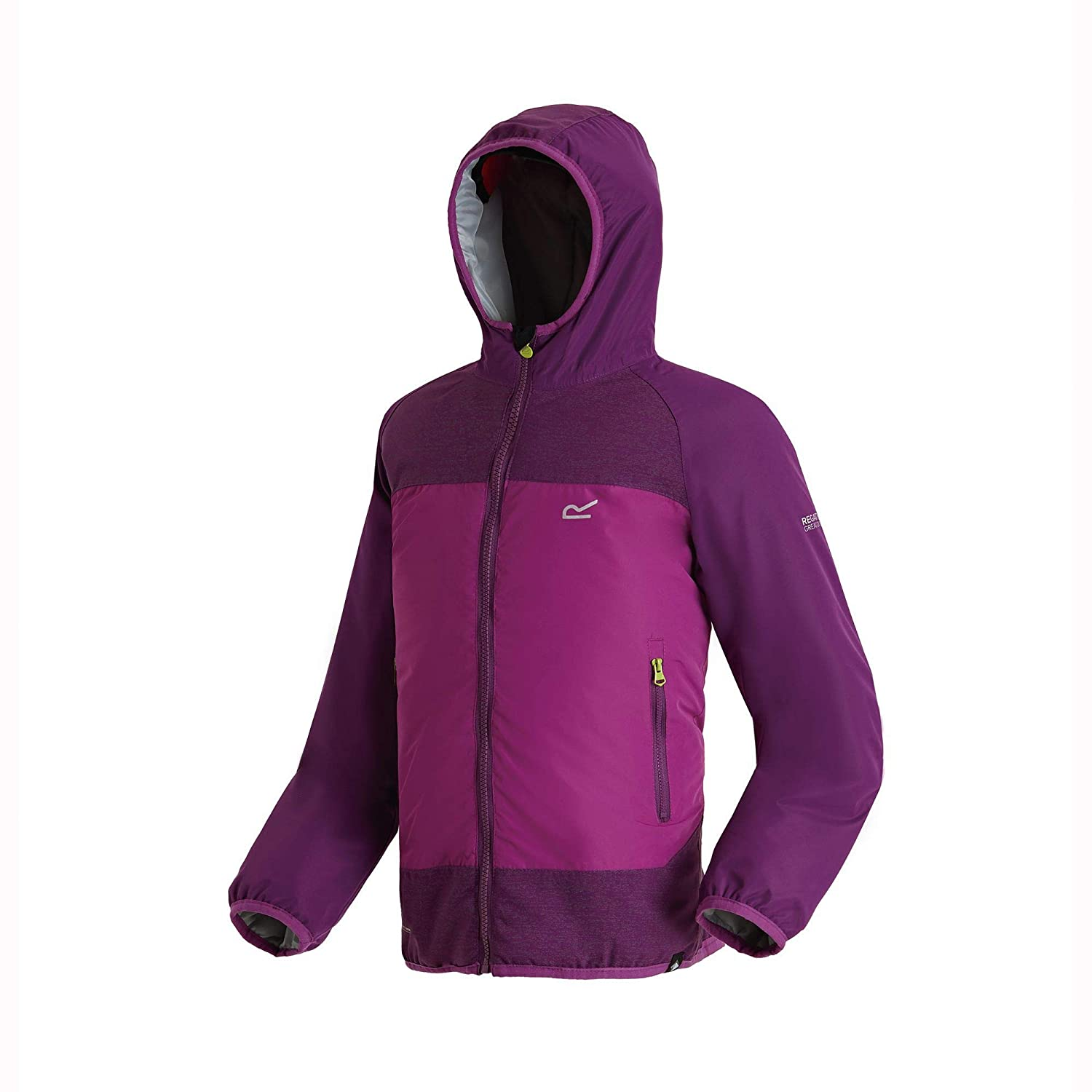 Regatta Volcanics II Waterproof and Breathable Lightweight Insulated Reflective Hooded Veste Enfant RKP197