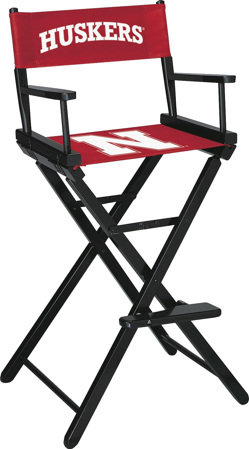 Imperial Officially Licensed NCAA Merchandise: Directors Chair (Tall, Bar Height), Nebraska Cornhuskers