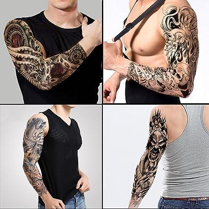 Tafly Tatuajes Brazo Completo Adhesivo Grande Hombro Tatuajes Falsos