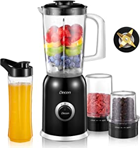 Decen Personal Blender For Shakes And Smoothies,Portable Mixers With 20Oz BPA-Free Blender Bottle, Small Size Smoothy Blenders And Juice Maker For Home,Office,Sports,Travel,Outdoors,300W High-Speed Power,Multifunctional