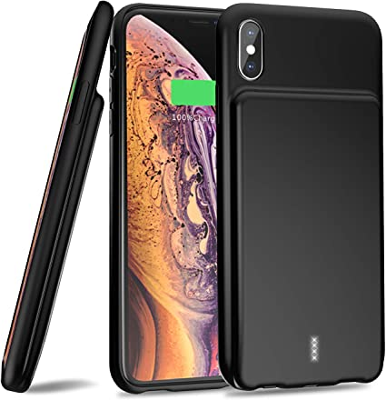 Amazon.com: Funda de batería para iPhone XS Max, 【5000 mAh ...