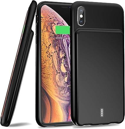 Amazon.com: Funda de batería para iPhone XS Max, 【5000 mAh ...