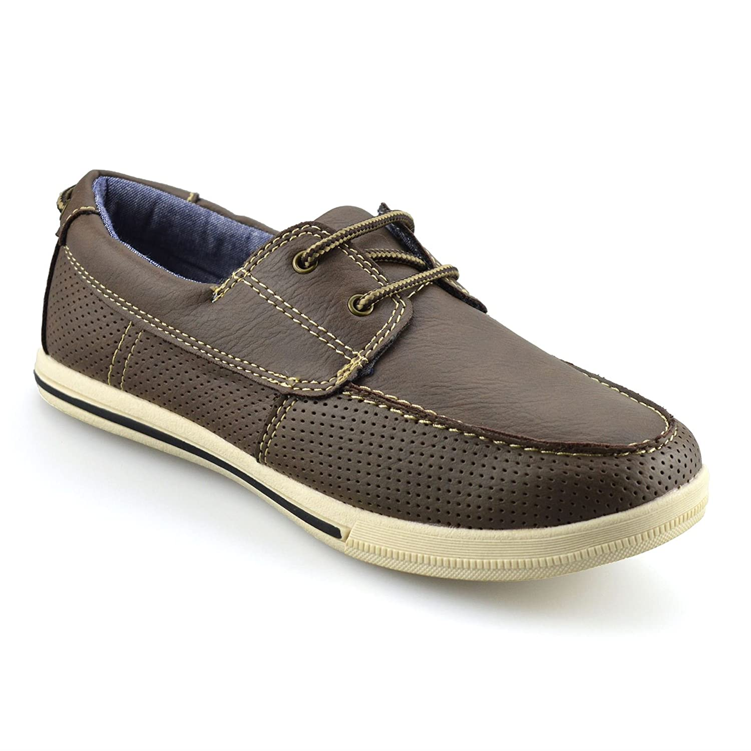 Boys Kids Casual Summer Lace Up Slip On Smart School Trainers Boat Shoes Smart Fit