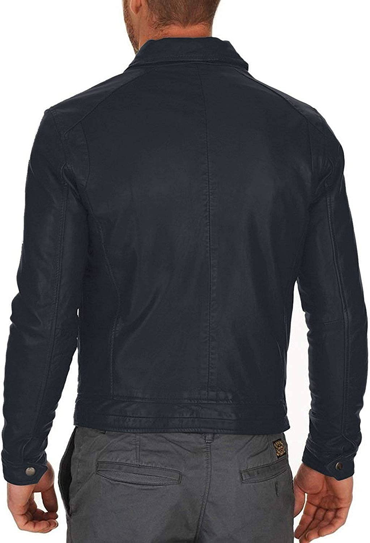 Black, Officer Jacket Laverapelle Mens Genuine Lambskin Leather Jacket 1501350