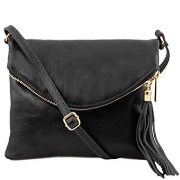 8cd3cc214994 Amazon.com  Tuscany Leather TL Young bag Shoulder bag with tassel detail  Black  Tuscany Leather Official Store