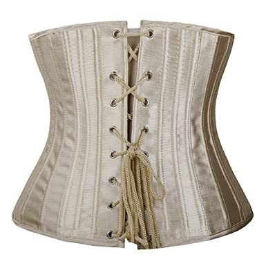 cab5b9fcb88 28 Spiral Steel Boned Waist Training Plus Size Underbust Corset Shaperwear  Top (Beige