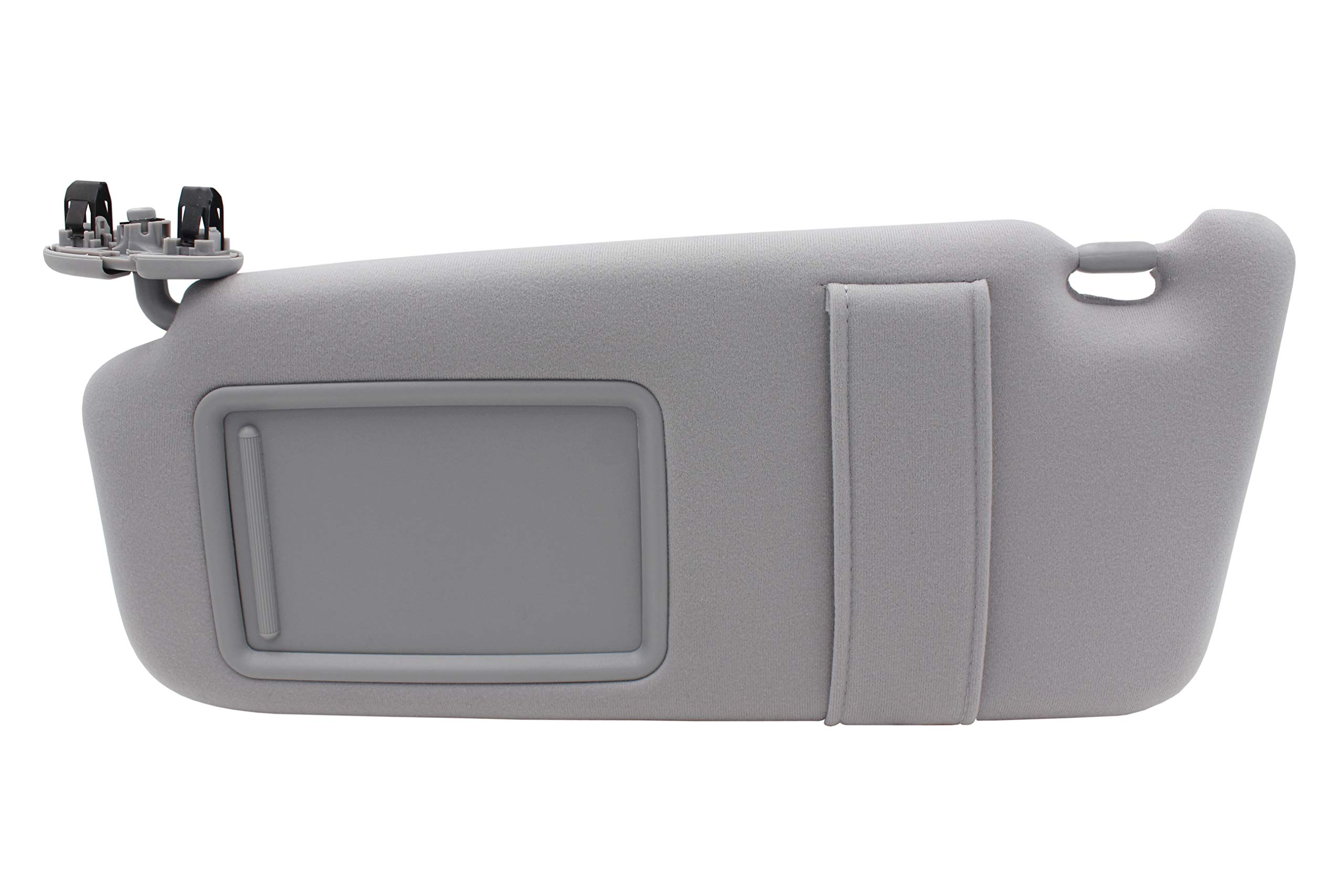 State Warehouse Left Driver Side Gray Windshield Sun Visor Mirror Fit for Toyota Camry 2007-2011 Toyota Camry Hybrid 2007-2011 Without Sunroof and Light Replace for 74320-06780-B0 Visor Assembly