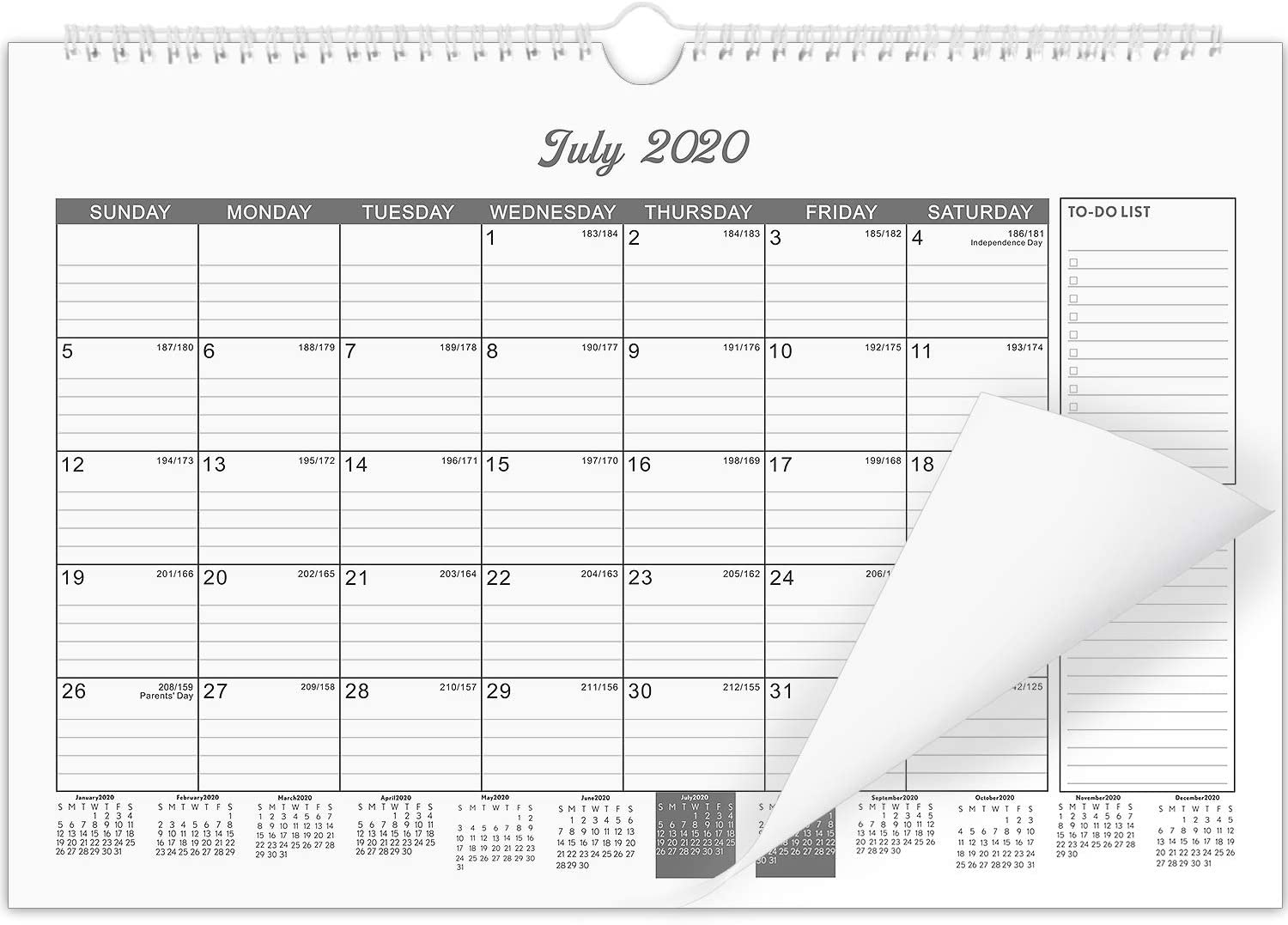 "Wall Calendar 2020-2021 for Organizing Planning 18 Month 15"" x 11.5"""