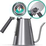 Coffee Gator True Brew Pour Over Kettle with 鹅颈喷嘴 SS-Grey 54 ounce