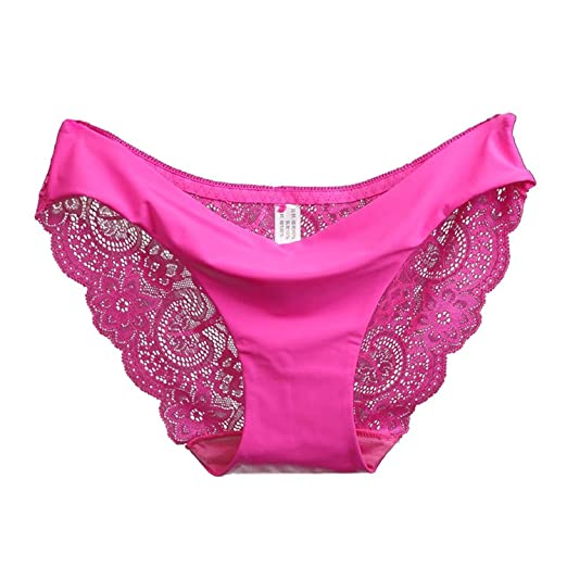 1fb527edf0 Image Unavailable. Image not available for. Color  TOOGOO(R) Women Fashion nylon  Lace Silk Seamless Underwear Female Breathable Sexy Lace Panties