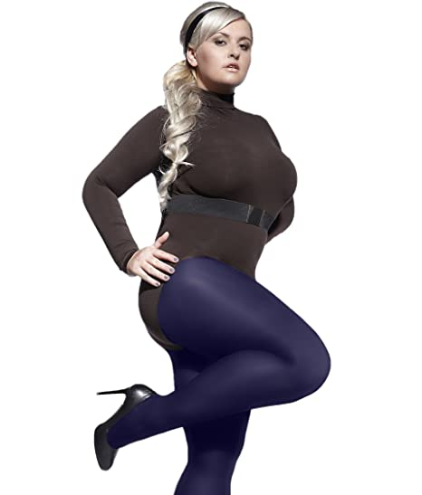 5863975f44965 Plus Size Plain Tights Perla 40 Denier With Special Comfortable Gusset  XL-4XL Adrian at Amazon Women's Clothing store: